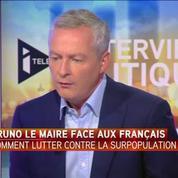 Le candidat à la primaire de droite Bruno Le Maire face aux Français