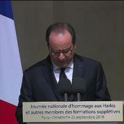 François Hollande reconnaît la responsabilité de la France dans l'abandon des Harkis
