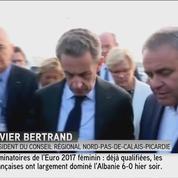 Calais: X. Bertrand raconte à N. Sarkozy «l'attaque de la diligence au Far West»