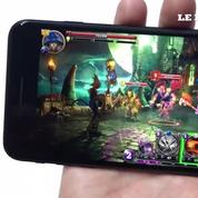 Premier lancement du jeu Broken Kingdom sur iPhone 7 plus