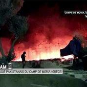 Grèce : des milliers de migrants fuient après l'incendie d'un camp