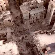 Les ruines d'Alep filmées par un drone