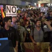 Espagne : des centaines de protestants dans la rue contre le nouveau gouvernement de Rajoy