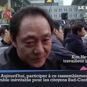 Les Sud-Coréens dans les rues de Séoul pour que leur présidente démissionne
