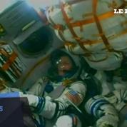 Le décollage de la fusée de Thomas Pesquet, Oleg Novitskiy et Peggy Whitson