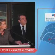Anne Levade annonce les premiers résultats partiels du second tour de la primaire