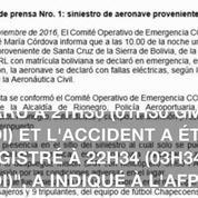 Colombie: un avion s'écrase avec 81 personnes à bord, dont des footballeurs brésiliens