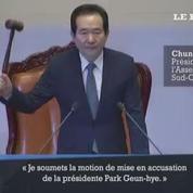 Le parlement sud-coréen vote la destitution de la présidente Park Geun-hye