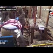 Egypte : les premières images de l'église copte, ravagée après un attentat à la bombe