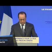 Proche-Orient : Hollande répond aux critiques d'Israël, met en garde Trump