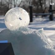 Une bulle gèle en moins de deux minutes
