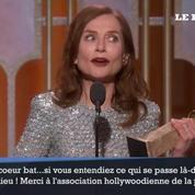Le discours d'Isabelle Huppert après son Golden Globe