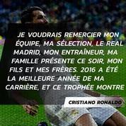 Cristiano Ronaldo remporte le prix The Best du meilleur joueur FIFA de l'année