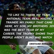 Cristiano Ronaldo won the Best FIFA Men's Player award