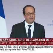 Aulnay-sous-Bois: Hollande rappelle que le juge protège les citoyens