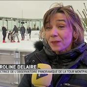 Le sommet de la tour Montparnasse se transforme en patinoire