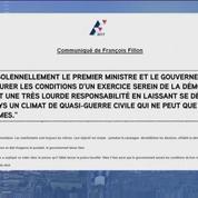 François Fillon s'en prend au gouvernement