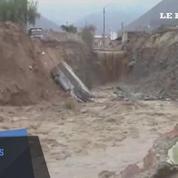 Pérou: des pluies diluviennes provoquent d'impressionnants glissements de terrain