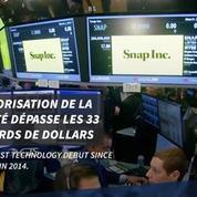 Départ réussi pour l'entrée en bourse de Snapchat