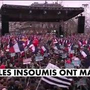 Mélenchon et ses insoumis à Bastille pour la VIe République
