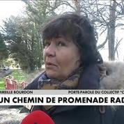 Un chemin de promenade radioactif