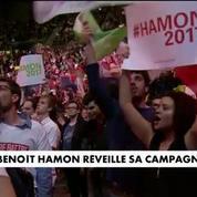 Benoît Hamon réveille sa campagne à Bercy
