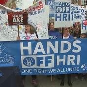 À Londres, des manifestants défendent le système de santé publique