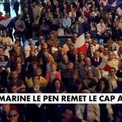 En meeting à Bordeaux, Marine Le Pen remet le cap à droite