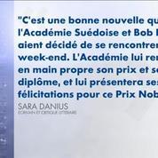 Nobel littérature : Bob Dylan va recevoir son prix