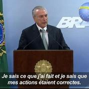 Brésil: «Je ne démissionnerai pas», martèle le président Temer