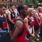 Minute de silence avant le départ du semi-marathon de Manchester