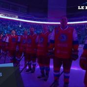 Vladimir Poutine joueur de Hockey le temps d'un soir
