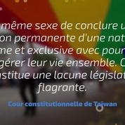 La justice taïwanaise ouvre la voie au mariage gay
