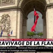 Investiture : Emmanuel Macron ravive la flamme du Soldat inconnu