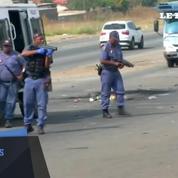 Des manifestations violentes réprimées à Johannesburg