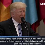 Avec son discours, Trump espère