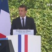 Macron au 73ème anniversaire du massacre d'Oradour-sur-Glane