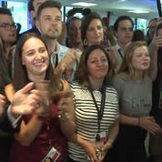 Au QG de La République en Marche, la joie des sympathisants à l'annonce des résultats