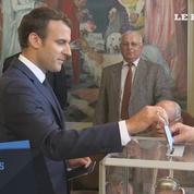 Législatives : le président Emmanuel Macron a voté