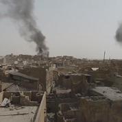 La vieille ville de Mossoul filmée par un drone