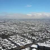 Santiago du Chili sous la neige