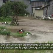 Le nord-est du Japon submergé après des pluies torrentielles