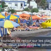 Séisme : Les touristes de retour sur les plages de Kos
