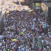 Manifestation à Hong Kong en soutien à 3 jeunes condamnés