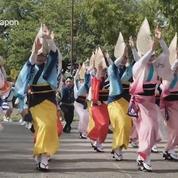 Un million de personnes réunies pour le festival de danse 'Awa' au Japon