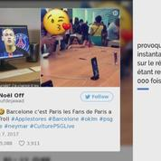 Quand Neymar apparaît comme nouvau fonds d'écran à l'Apple Store de Barcelone