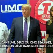 À Las Vegas, Donald Trump rend visite aux «héros» et aux victimes de la fusillade