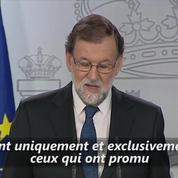 Mariano Rajoy : «Les responsables [...] sont ceux qui ont promu la violation de la loi et la rupture de la cohabitation.»