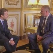 Emmanuel Macron reçoit syndicats et patronat
