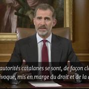 Le roi d'Espagne estime que les autorités catalanes «se sont mis en marge de la démocratie»